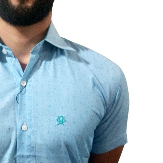 Camisa Masculina Ox Horns Azul 9008