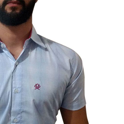 Camisa Masculina Ox Horns Xadrez Azul 9021