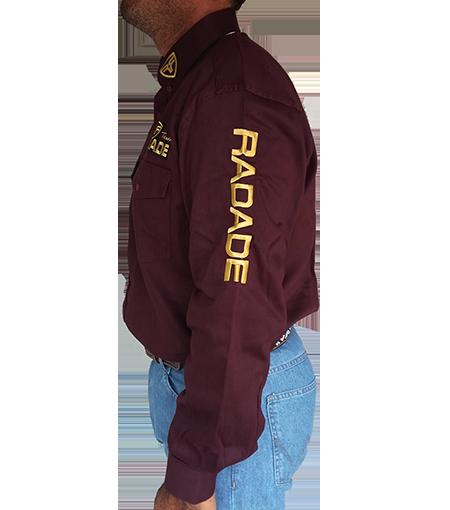 Camisa Masculina Radade Riding Vinho/Dourado