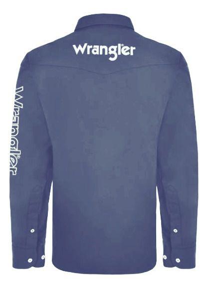 Camisa Masculina Wrangler WM13112MIN Azul