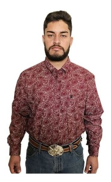Camisa Masculina Os Coroné Floral Vinho