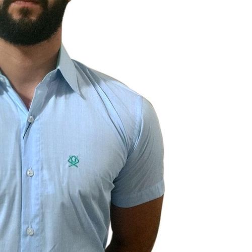 Camisa Masculina Ox Horns Azul Claro 9013