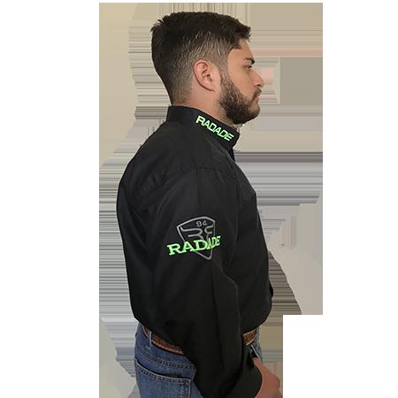 Camisa Masculina Radade Classic Preta/Verde