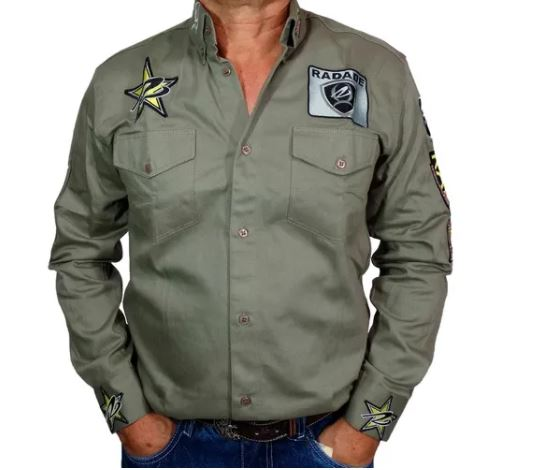 Camisa Masculina Radade Green Team Verde Militar