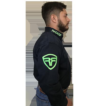 Camisa Masculina Radade Riding Marinho/Verde