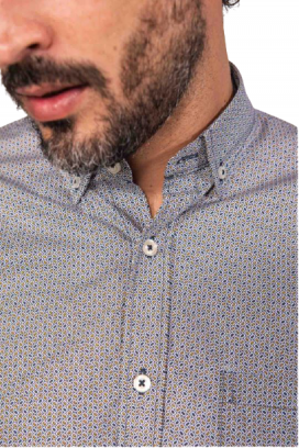Camisa Masculina TXC Brand Azul e Amarelo 2669C