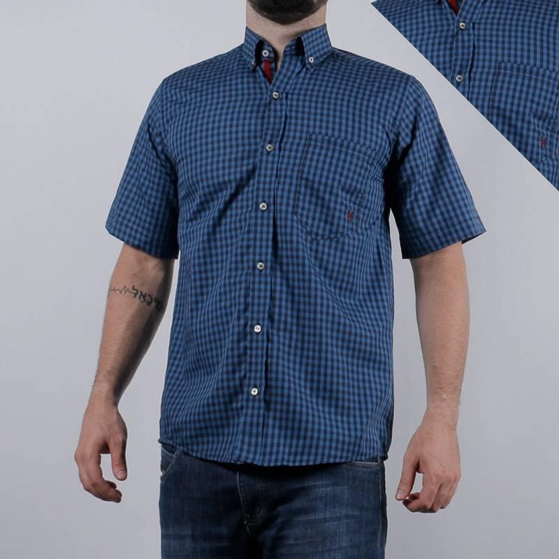7abc30ae3a Camisa Masculina TXC Xadrez Azul 2274C
