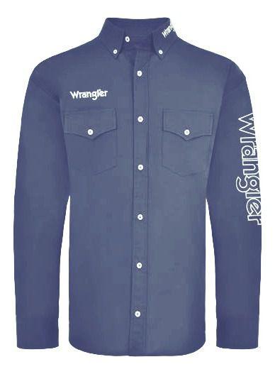 Camisa Masculina Wrangler Azul WM13112MIN
