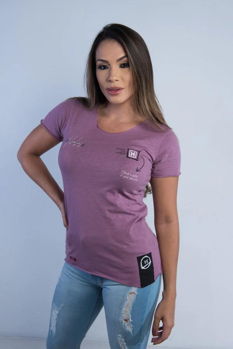 Camiseta Feminina TXC Brand Roxa 4614