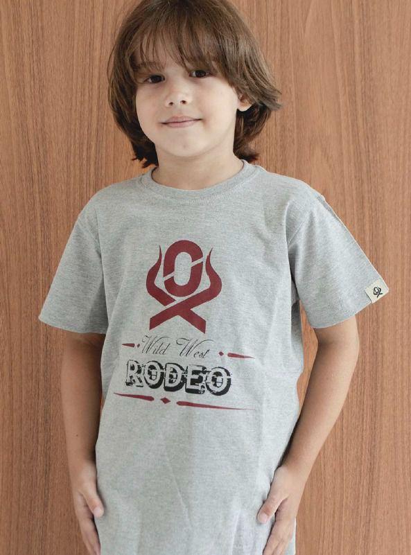 Camiseta Infantil Ox Horns Cinza 5035