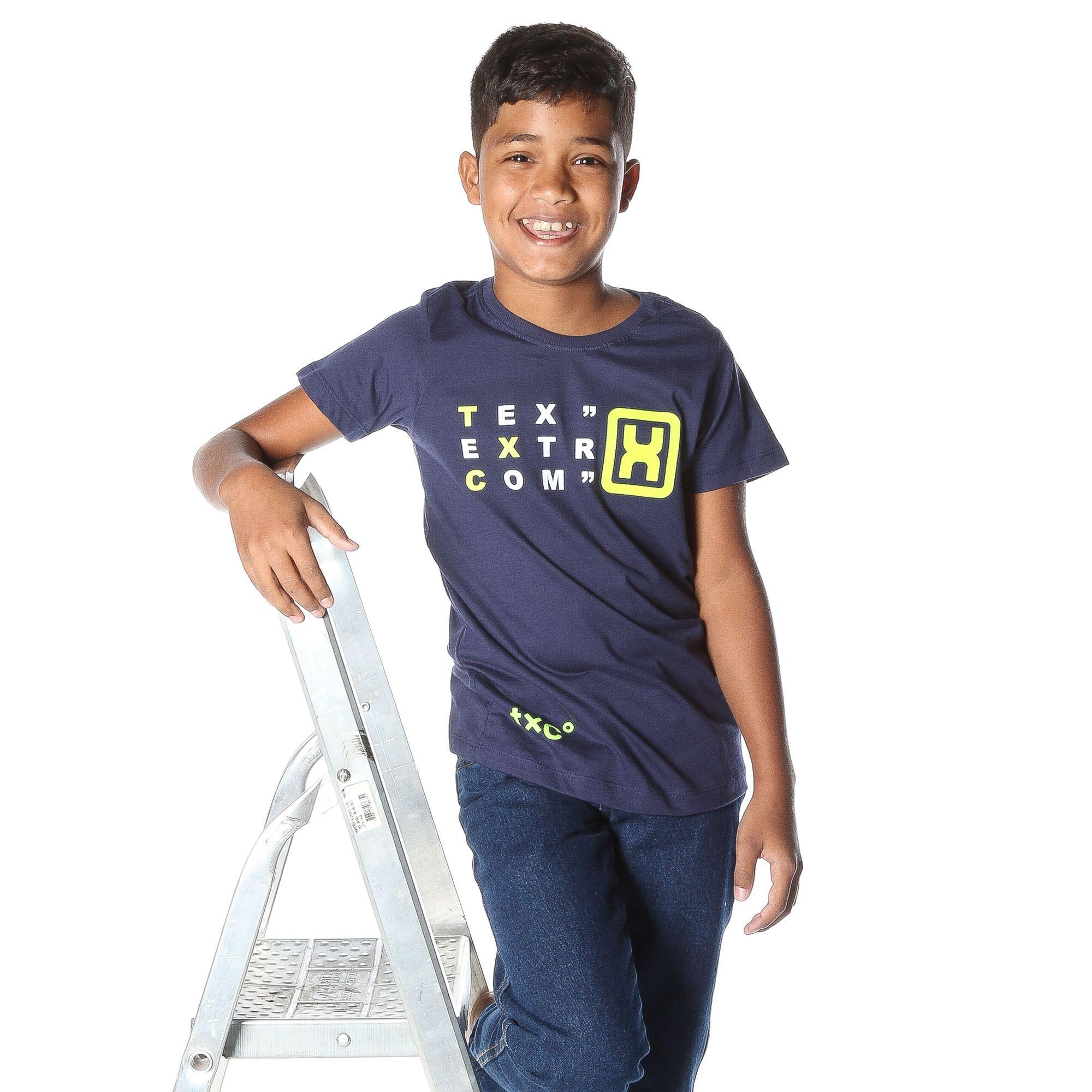 Camiseta Infantil TXC Azul Marinho 11555