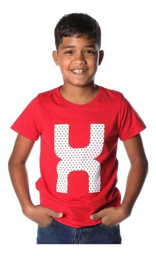 Camiseta Infantil TXC Brand Vermelha 11403