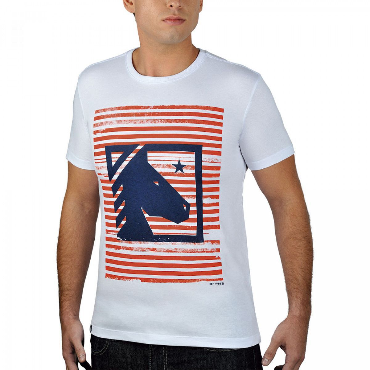 Camiseta Masculina BF///MS Horse Branca 184