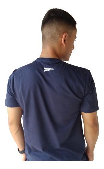 Camiseta Masculina Fast Back 1014 Azul Marinho