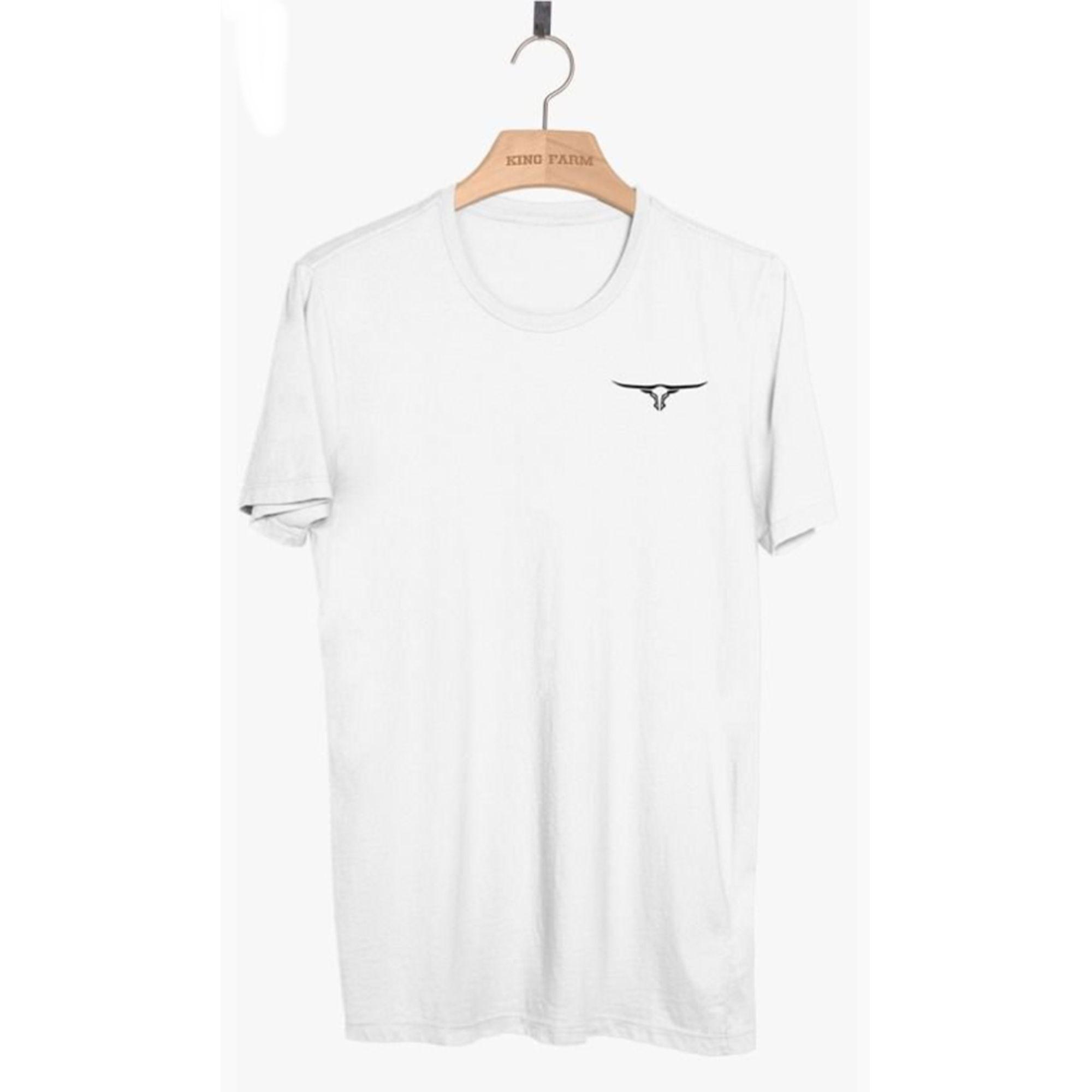 Camiseta Masculina King Farm Branca KF90