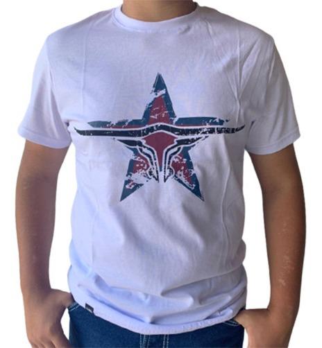 Camiseta Masculina King Farm Branco GCM174