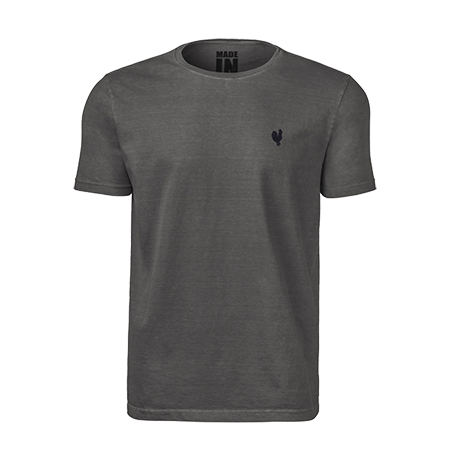 Camiseta Masculina Made In Mato Básica Cinza 8290