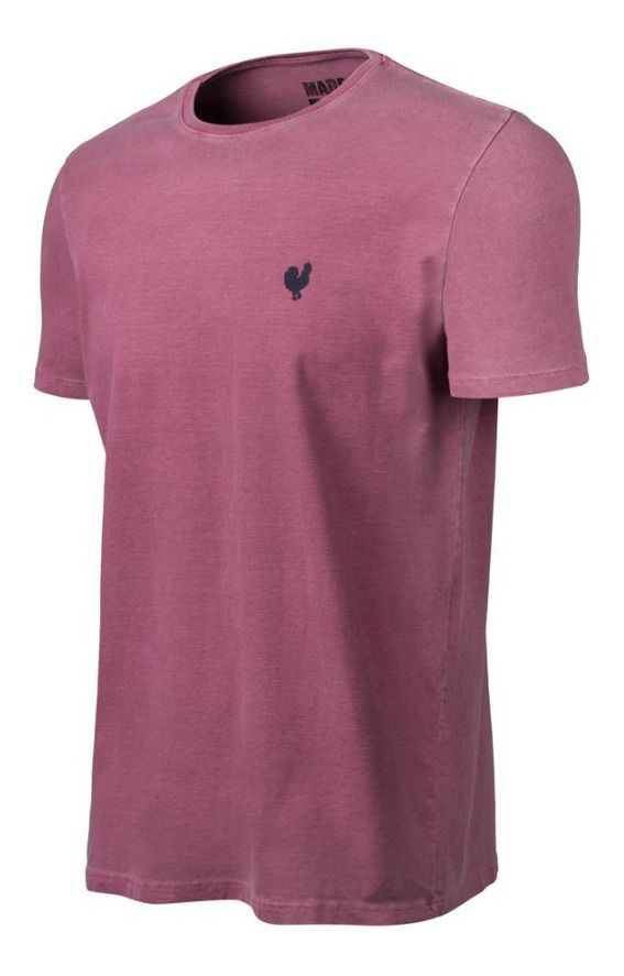 Camiseta Masculina Made In Mato Stone Vinho C8292