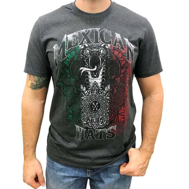 Camiseta Masculina Mexican Hats Snake Flag
