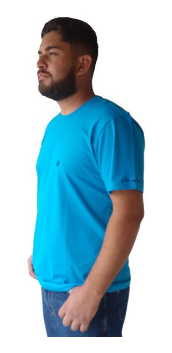 Camiseta Masculina Ox Horns Azul 8022