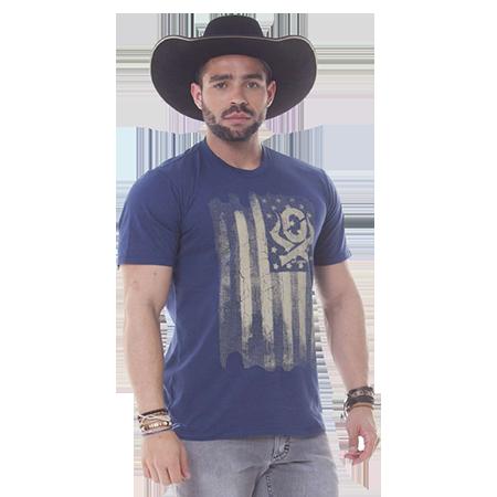 Camiseta Masculina Ox Horns Marinho 1162