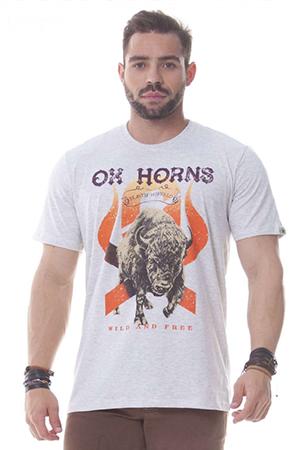 Camiseta Masculina Ox Horns Mescla 1153
