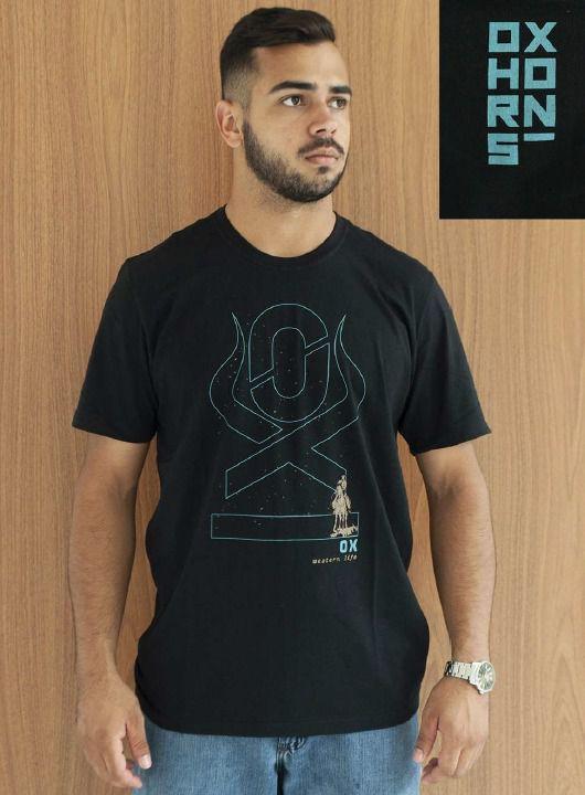 Camiseta Masculina Ox Horns Preta 1322