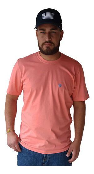 Camiseta Masculina Ox Horns Salmão 8023