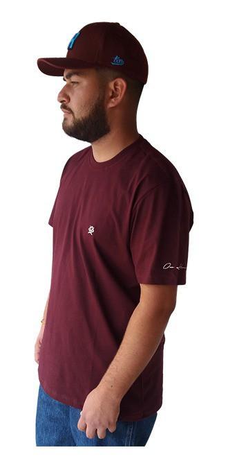 Camiseta Masculina Ox Horns Vinho 8008