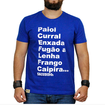 Camiseta Masculina Sacudido´s Azul