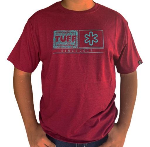 Camiseta Masculina Tuff Bordô TS2115
