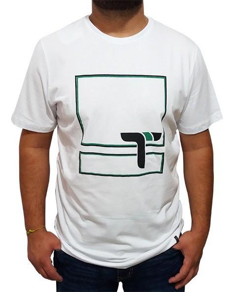 Camiseta Masculina Turn Branca 1001