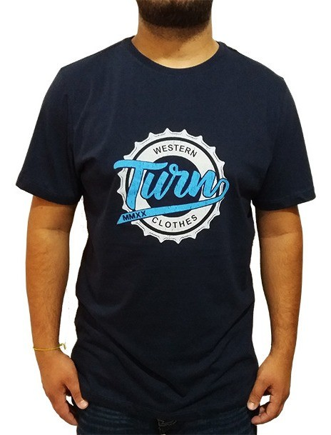 Camiseta Masculina Turn Marinho 1002