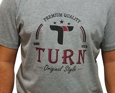 Camiseta Masculina Turn Mescla 1003