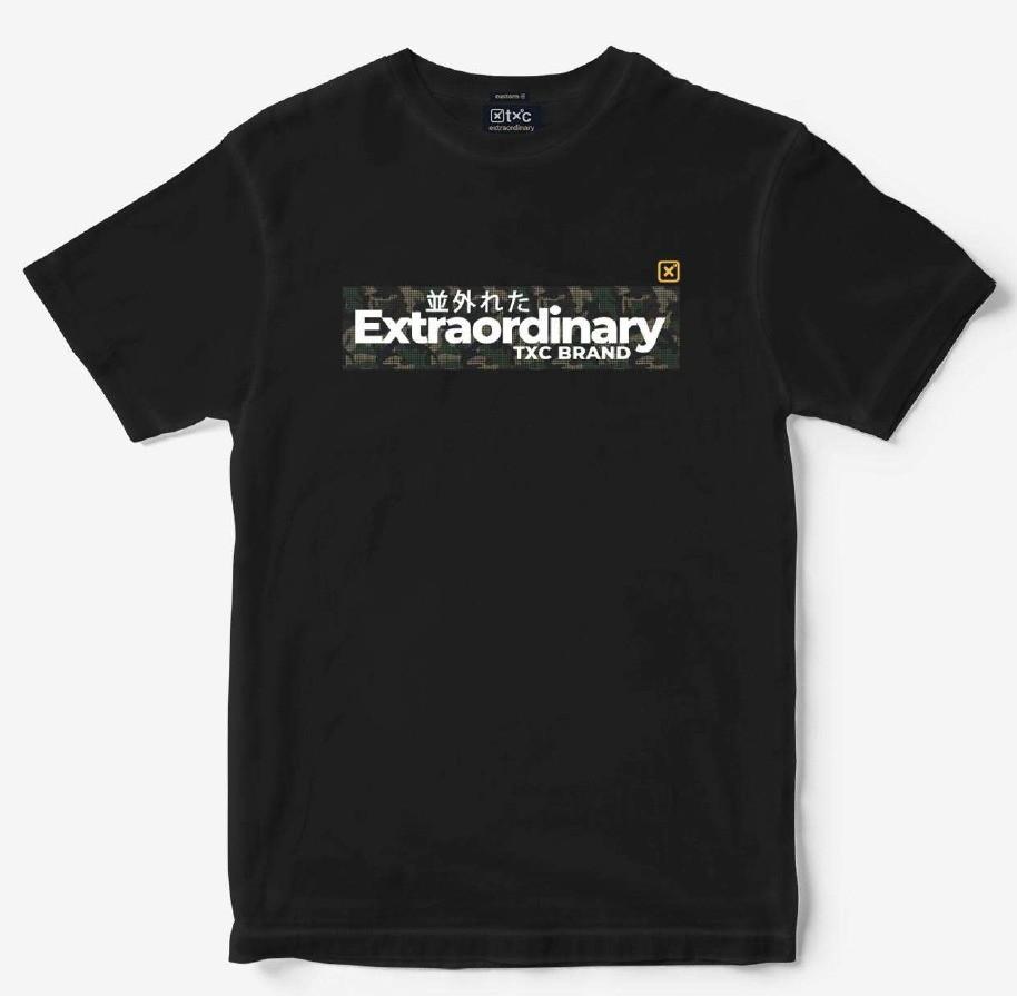 Camiseta Masculina TXC Brand 19168 Preto Stone