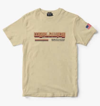 Camiseta Masculina TXC Brand Areia 19203