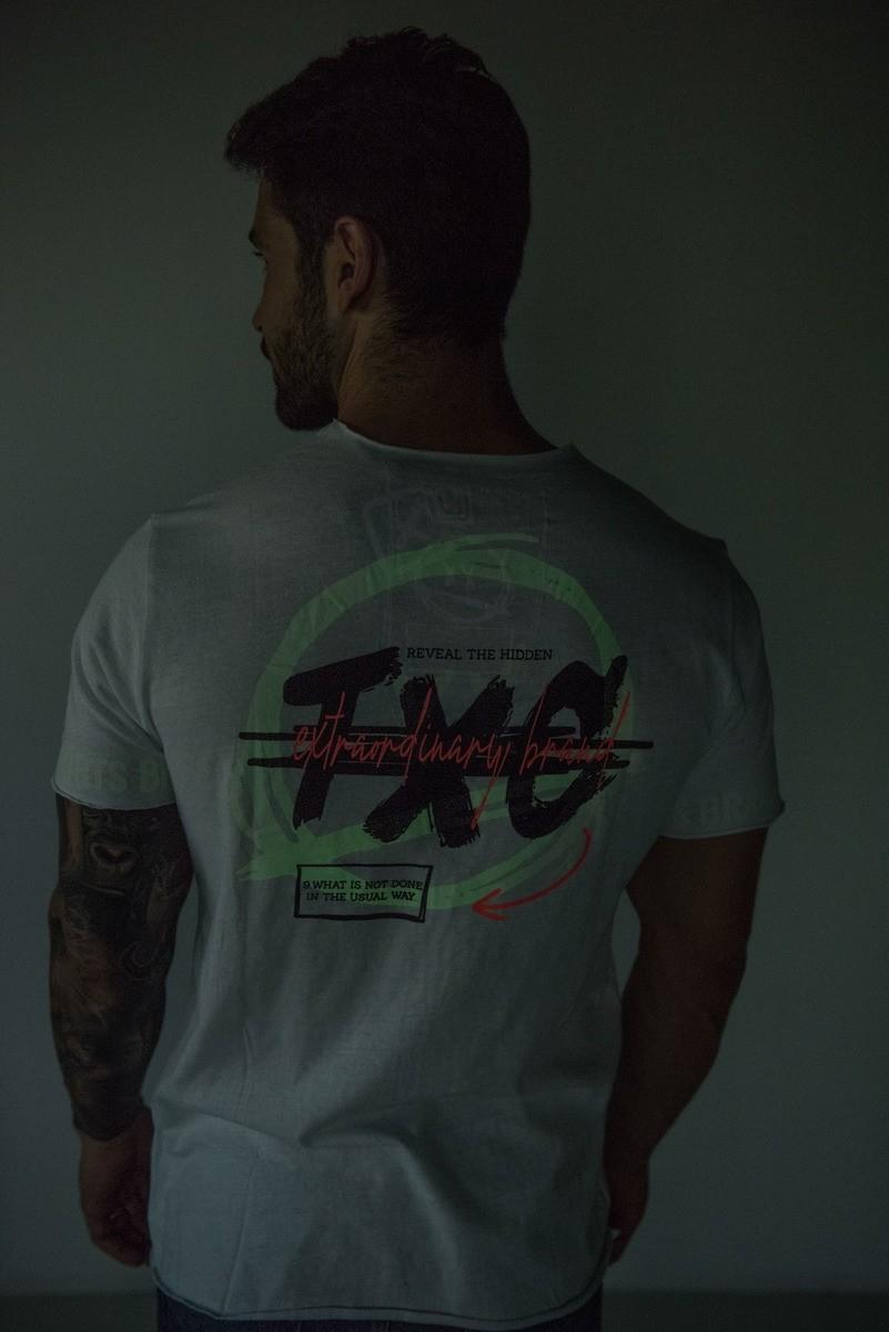 Camiseta Masculina TXC Brand Branco 1992