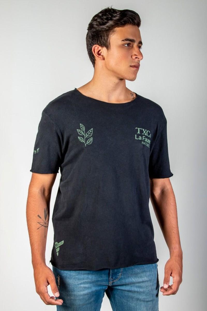 Camiseta Masculina TXC Brand La Faune Preto 1877