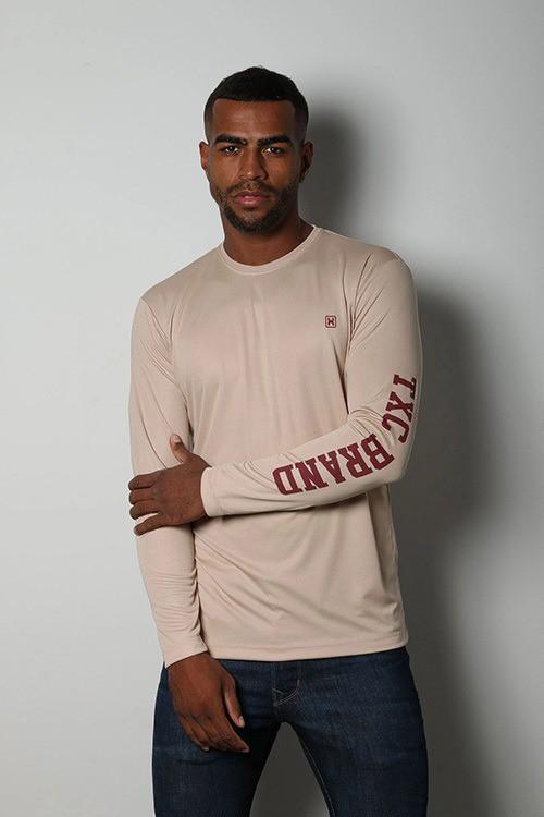 Camiseta Masculina TXC Brand X- Sweat Bege 2027