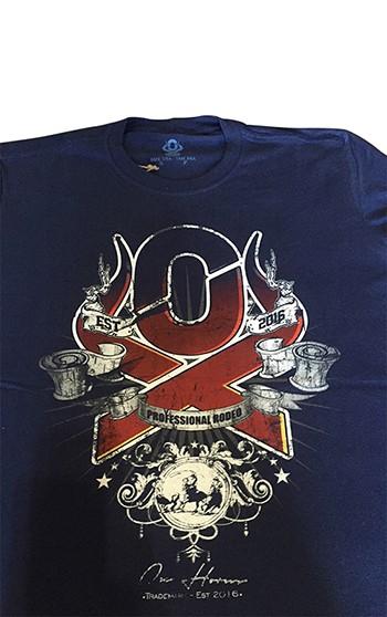 Camiseta Masculina OX Horns Rodeo Azul Marinho 1010  7d74ed3568f