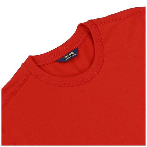 Camiseta Masculina Wrangler Basic Tee Vermelho