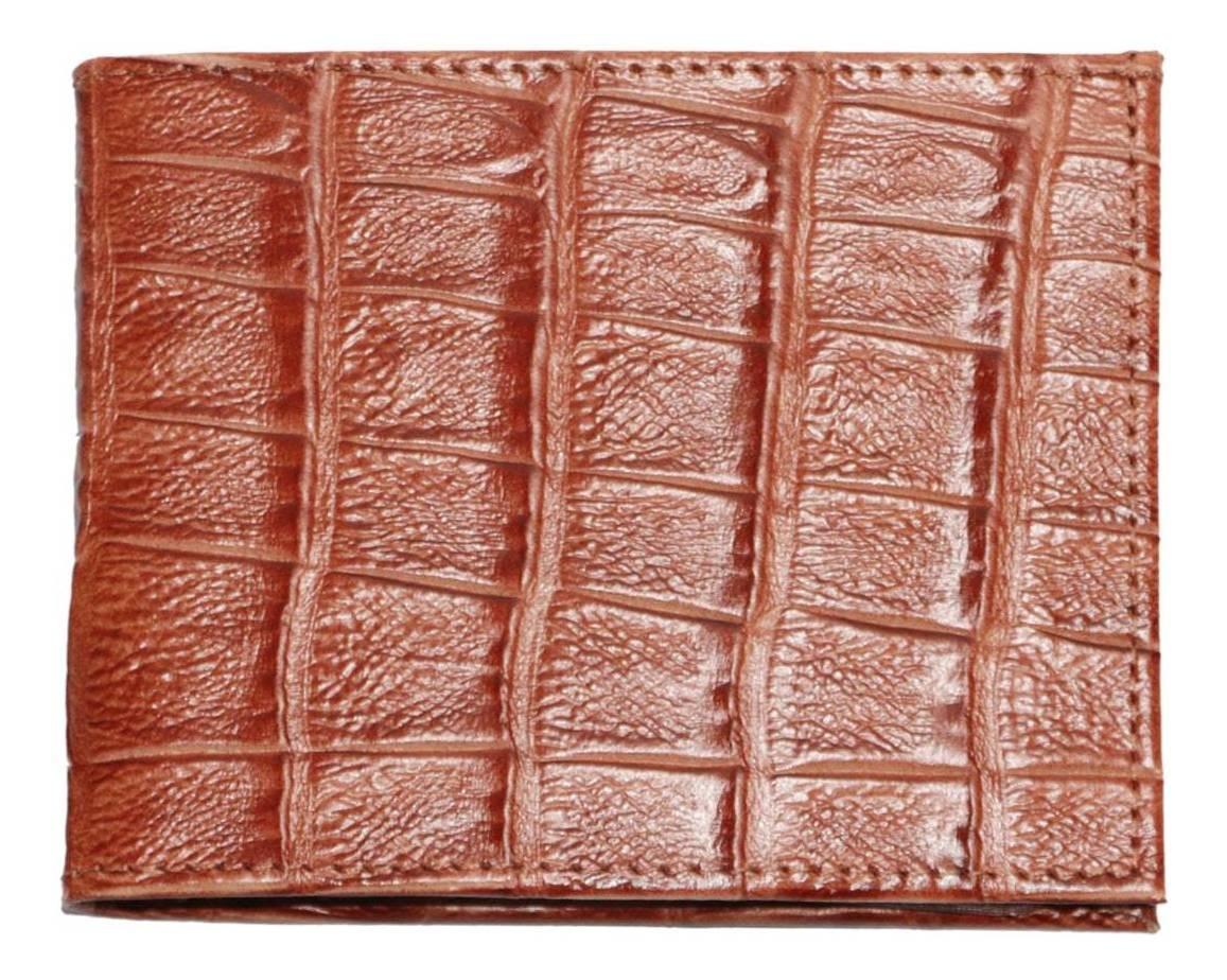 Carteira Couro Crocodilo Cincow Caramelo 9151