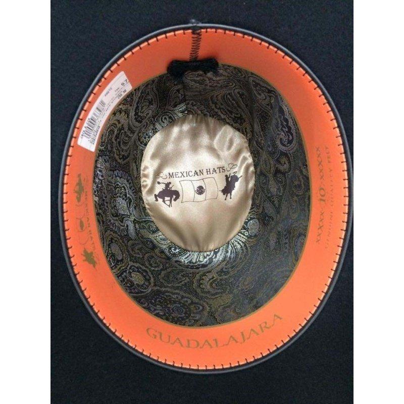 6428031fbfdd2 ... Chapéu Mexican Hats Guadalajara Preto 1411