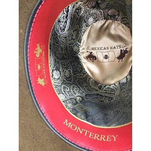 Chapéu Mexican Hats Monterrey Com Viés Cafe 412