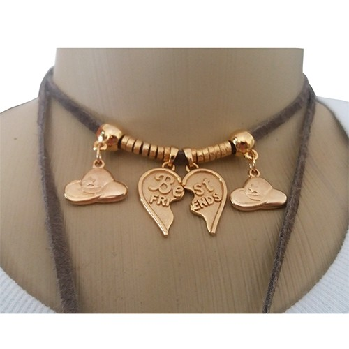 Colar Feminino Country Pingente Best Friend