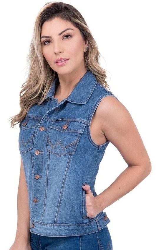 Colete Jeans Feminino Wrangler WF7550