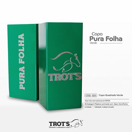 Copo Inox Trot`s Quadrado Verde Pura Folha