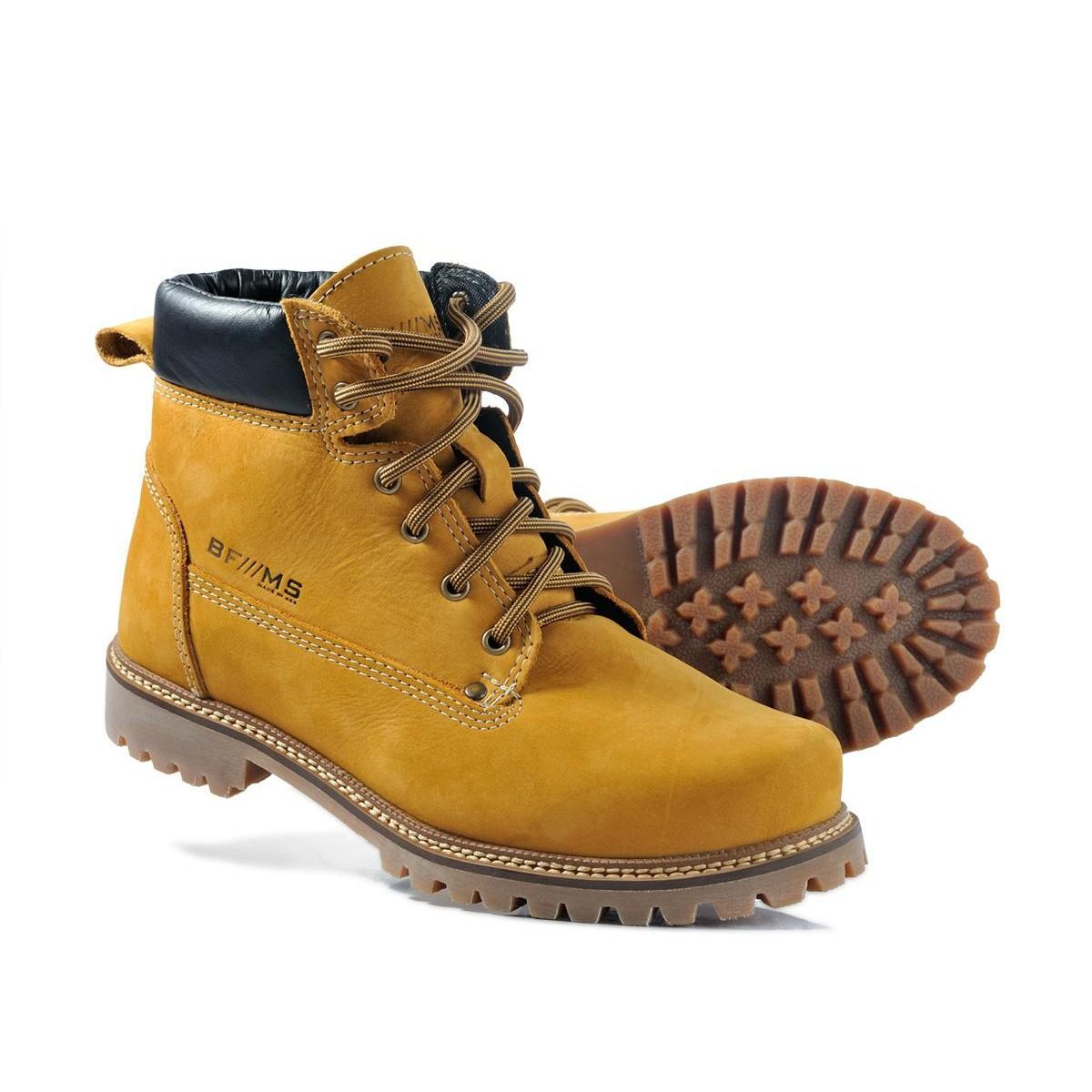 COTURNO BF///MS YELLOW BOOT COURO LEGITIMO