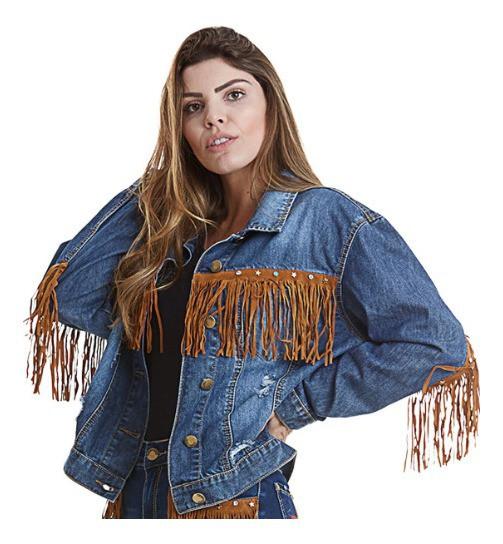 Jaqueta Jeans Feminina West Dust Bull Heart
