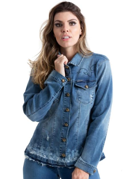 Jaqueta Jeans Feminina West Dust Kansas JQ27022